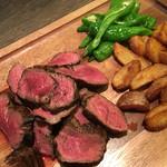 72313819 - 焼きの熟成赤身肉1ポンドグリル(450g)エロうま野菜付き3,990円