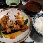 与楽 - 若鶏唐揚げネギソース