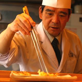 「なだ万」で30年培った、達人の天ぷらをご堪能ください。