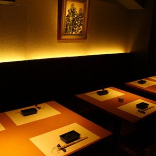 銀座花椿通りを見下ろせるカウンター、10名様可の完全個室も!
