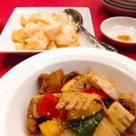 レストラン ぎんが - 黒酢酢豚と海老マヨ