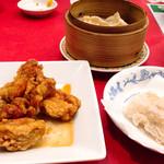 レストラン ぎんが - 唐揚げ、海鮮春巻き、馬肉の餃子