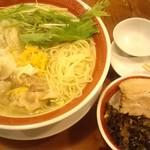 72330337 - ゆず塩ワンタン麺&ルゥロウ飯ミニ
