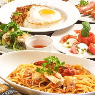 定番の居酒屋料理から本格イタリアンやアジアンフードまで!