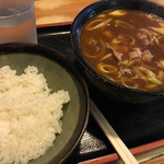 多奈可家 - カレー南蛮蕎麦+ライスキレ