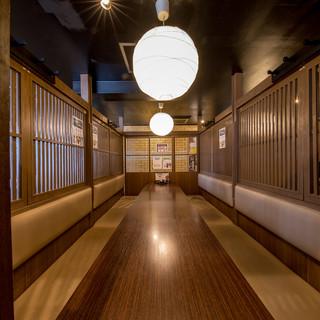 完全個室最大20名様まで可能/貸切宴会50~70名様承ります