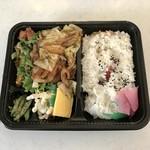 手づくり弁当 あじ菜 - 料理写真:野菜炒め弁当、480円です。
