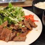 グリルスタンド - 松坂牛カルビ焼肉定食900円