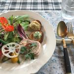 プチマルシェ - パスタお肉ランチ(前菜)@3,500