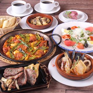 【宴会】スペインの魅力を凝縮した『セルバンテスコース』
