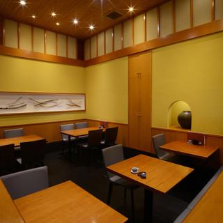 開放的な和空間で、ゆったりとお料理やお酒を楽しんで