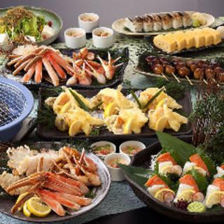 焼き蟹又は蟹すき鍋の食べ放題