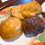 アンシエーヌ - 自家製パン  紫芋、カマンベールチーズ、豆乳パン
