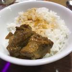 タカリバンチャ - ご飯お代わりして、マトンカレーをかけて食べるの巻