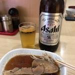 あづま - カレイの煮付け300円+瓶ビール(大)550円