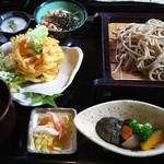 信州そば処 玄 - 小海老のかき揚げ丼セット