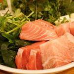 山さき - 料理写真:ねぎま鍋の具材(2017/1)