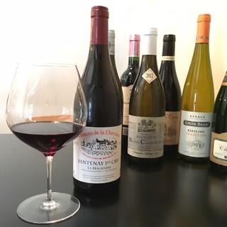 フレンチにはフランス産ワインを。充実のラインナップ♪