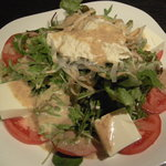 杏屋 - 豆腐と湯葉のサラダ