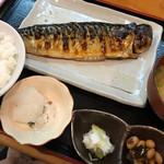 ひもの野郎 - 日替わり干物定食 この日は鯖
