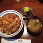 銀座 天國 - お昼天丼の全容