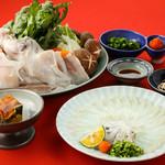ふく処 信剣 - おためし初ふくコース          煮凝り・ふく刺し・ふく鍋・雑炊・香の物        6600円