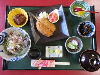 民宿 ふじ島 - あじ定食 1500円