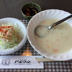 ステーキハウス・ドルフィン - 2017.8.5  サラダとスープ