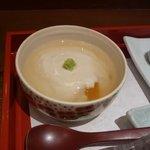野菜割烹 あき吉 - 豆乳蒸し(生麩・・)