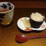 野菜割烹 あき吉 - リンゴシャーベット