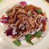 榮林 - 料理写真:雲白肉菜(信州産三枚豚バラ肉のピリ辛ソースがけ)