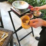 恵比寿 箸庵 - 福豊に〜にがりを入れます