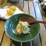 恵比寿 箸庵 - 桃の白和え