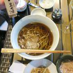 恵比寿 箸庵 - 温かいかけ蕎麦