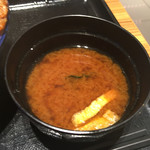 とんかつ 銀座梅林 - イマイチな味噌汁