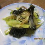 両国屋 - お通し(野菜の炒め物)