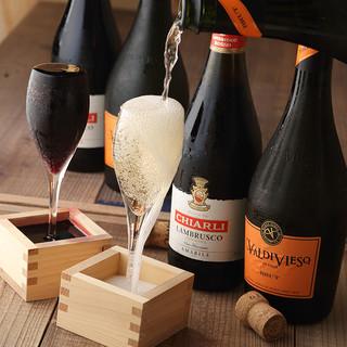 自然派ワインが豊富◎満杯必至のこぼれスパークリングが名物♪