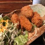 瀬戸内水軍 - 牡蠣フライと本日のお刺身 950円。