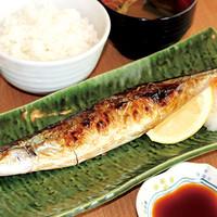 満天食堂 - 【期間限定】大船渡産さんまの塩焼き定食