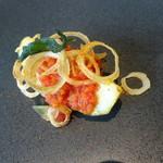 72393274 - アミューズ 茄子 トマト