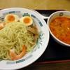 日高屋 - 料理写真:「エビ辛とんこつつけ麺」590円也。税込。