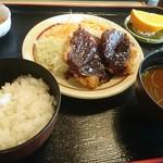 山正 - A定食(ヒレカツ2枚、ライス小盛り) 830円