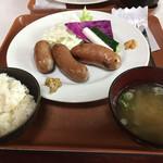 フレスガッセ - ソーセージ盛り合わせ定食