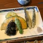 72395167 - 稚鮎と夏野菜の天せいろ1,500円