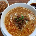 熊谷 - 黒酢付き(白)+ミニ麻婆丼