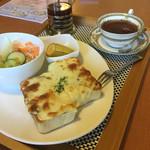 カフェ リエッコ - 料理写真:カレーピザトースト