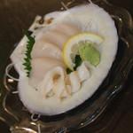 青森バルわいはー - ホタテのお造り(料理1品とドリンク1杯で750円相当)2017年8月