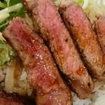 グリル カキヤス - サーロインステーキ丼