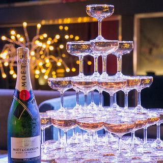 シャンパンタワーで華やかなゴージャスNightを♪【要予約】