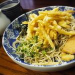 神田錦町 更科 - 冷しょうが天ぷら蕎麦